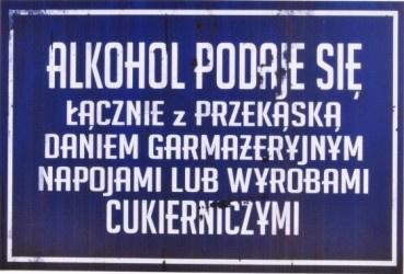 Płonąca żyrafa Plakat Tablica Prl Alkohol Podaje Się łącznie Z Przekąską