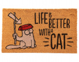 Wycieraczka - Kot Simona - Life Is Better With A Cat